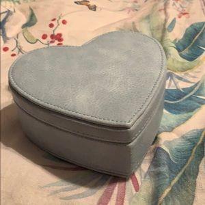 Potterybarn Kids Faux Leather Heart Box w/mirror